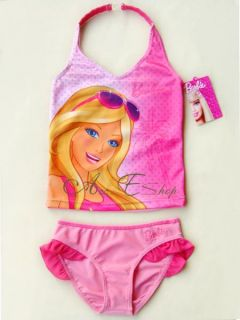 Girls Kids Barbie Princess 2 10Y Swimsuit Swimwear Swim Costume Tankini Bikini