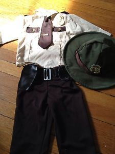 Toddler Police Officer Sheriff Trooper Costume 18 Months 2T