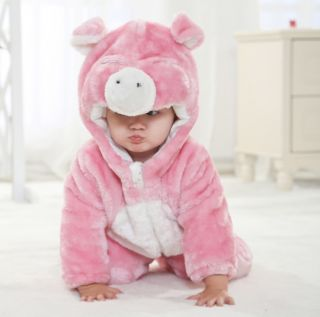 Baby Boy Girl Kids Fleece Animal Costume Baby Romper Outfit Playsuit Gift New