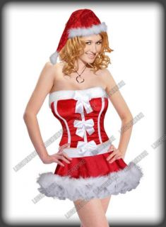 3pcs Set Sexy Hot Christmas Party Dress Costumes New