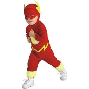 The Flash Costume Baby Toddler DC Comics Superhero Halloween Fancy Dress