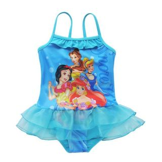 Girls Princess Tutu Swimsuit Swimwear One Piece Bathing Suit Swim Costume Sz 2 8