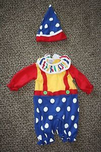 Le Top Unisex Infant Clown Halloween Costume Size 6M