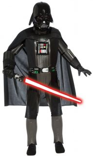 Darth Vader Deluxe Child Boys Costume Star Wars Black Kid Theme Party Halloween