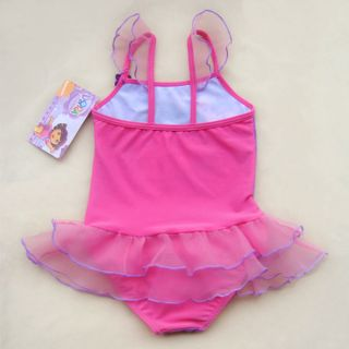 Dora The Explorer Girl Baby Tutu Swimming Costume Swimsuit Swimwear Tankini 2 9Y
