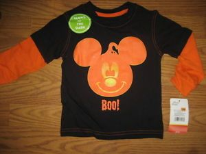 New Toddler Boys Disney Mickey Mouse Halloween Shirt Costume Size 12 Months