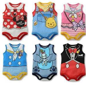 1 Pcs Lovely Baby Boy Girl Kid Romper Jumpsuit Outfit Clothes Bodysuits 0 5 3T