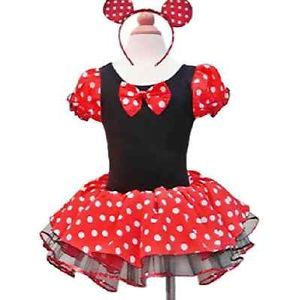 Girl Baby Disney Minnie Mouse Tutu Dress Halloween Costume Party Ballet Toddler