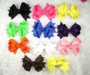 Wholesale Baby Girl Costume Boutique Hair Bows Clips Party 6 10 50 100pcs Acdg