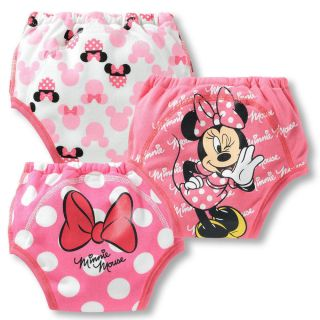 Kids 3 Pcs Baby Girls Toddler Potty Training Pants Cartton Underwear B Size 80