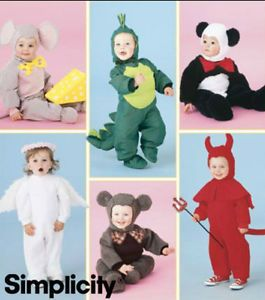 Simplicity Pattern 5848 Infant Dinosaur etc Costumes Baby Toddler 1 2 4