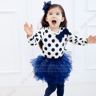Toddler Girls Kids Clothes 2pcs Set Dress Top Leggings Skirts 2 8Y Outfits TY3