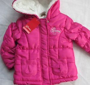 Infant Baby Girls Clothing Guess Toddler 18 Month So Cute Pink Coat Jacket