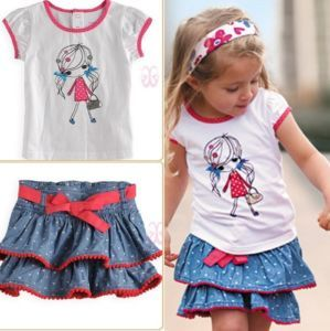 Girls Baby Kids Top Skirt 2 Piece Outfit Set 1 6Y Lovely Clothing Costume