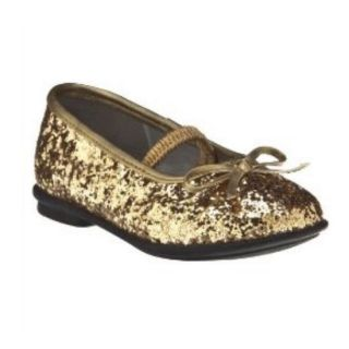 Circo Toddler Girls Gold Glitter Dress Shoes Dedra Ballet Flats