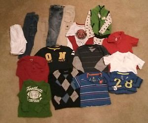 19 PC Lot 18 24 MO Baby Toddler Boys Clothes PJs Sweaters Onesies Shirt Jeans