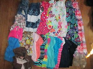 Lot of 23 Toddler Girl 4T 5T Spring Summer Clothes Mix Match Pieces Dresses