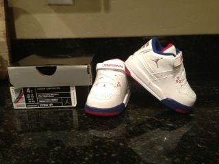 Nike Air Jordan Toddler Boys FLIGHT23 Basketball Shoes Size 4c White Multi
