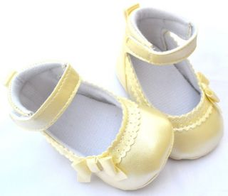 Ivory Mary Jane Toddler Baby Girl Shoes Size 1 2 3