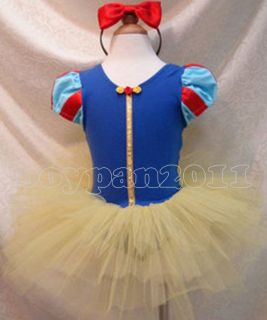 Kids Girls Xmas Party Princess Costume Ballet AGE1 8Y Tutu Dress Hairband