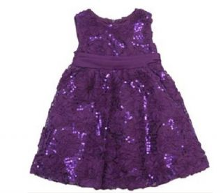 RARE Editions Sequins Flowers Party Dress Easter Pageant Wedding Girls 2T 3T 4T