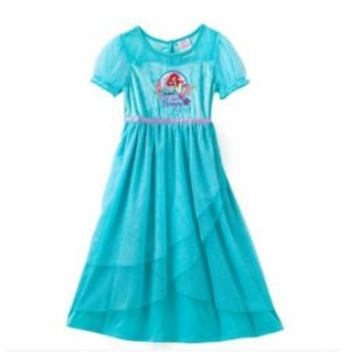 Disney Princess Ariel Little Mermaid Dress Up Nightgown Toddler Size 2T