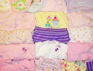 32 Piece Baby Girl Clothes Fall Winter Lot Newborn 0 3 3 6 Months