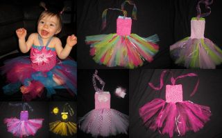 Baby Girl First Birthday Princess Tutu Dress Pagent Outfit Green Pink Purple