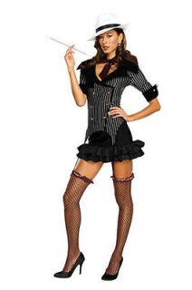 Gangster Doll Adult Womens Mafia Halloween Costume