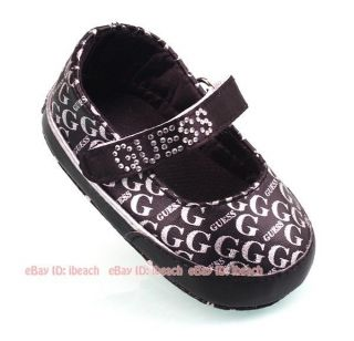 Soft Sole Infant Baby Girl Mary Jane Rhineston Crib Shoes Age 3 6 9 12 18 Months