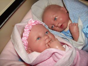 "Reborn Berenguer Twins ""Beautiful Baby Girl Boy Come w Many Clothes and EXTRAS"