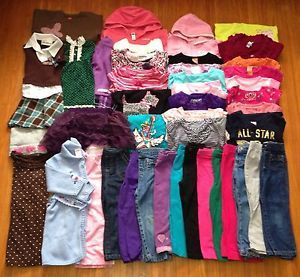 Huge Lot 45 Baby Toddler Girls Size 3T Fall Winter Clothes Outfit Gymboree