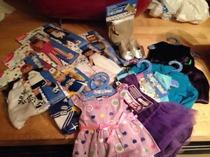 "Lot of 11 Doll Clothes 2 Pair of Shoes 4 American Girl 18""Doll Springfield"
