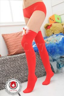 Sexy Ladies Thigh High Silk Nylon Bow Knot Party Costume Stockings Seam Hosiery