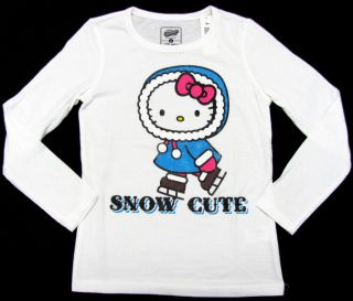 Hello Kitty Snow Cute Winter Girl T Shirt x Large 12 14 Long Sleeve Old Navy XL