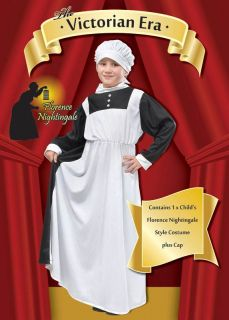 Florence Nightingale Victorian Girl Large Girls Fancy Dress Costume Book Week