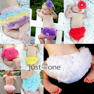 Baby Girls Sweet Ruffle Panties Briefs Bloomer Diaper Cover F Pettiskirt s 6 24M
