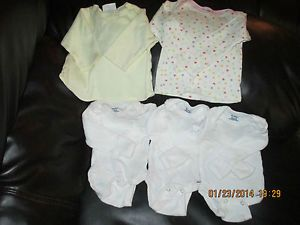 Baby Girl Newborn Long Sleeve Clothes Lot 0 3 Months