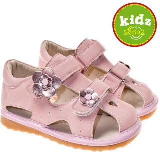 Girls Infant Toddler Leather Squeaky Shoes Sandals Pink