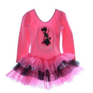 Girls Kids Leotard Ballet Tutu Pink Dancewear Bow Skate Dress 3 8Y Fancy Costume