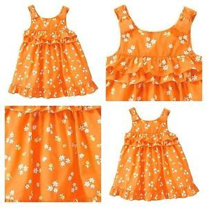 12 18 mos Gymboree Lemon Bumblebee Orange Ruffles and Bows Sleeveless Dress