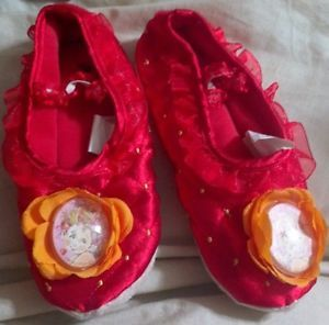 Toddler Girl Fancy Nancy Red Ballet House Slippers Dress Up Shoes Costume