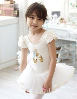 Girl Party Leotard Shoes Ballet Costume Tutu Dress 3 8Y