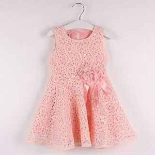 Kids Toddlers Girls Princess Birthday Party Flower Solid Lace Skirt Dress sz2 7Y