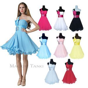 Women Bridesmaid Bridal Wedding Prom Ball Birthday Party Cocktail Dress 12 Color