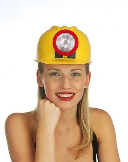 Plastic Miner Hard Hat Halloween Costume Accessory