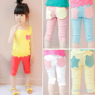 New Baby Girls Stars Pattern Pants Leggings Shorts Trousers Kids Costume 1 6Y