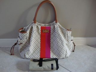 Kate Spade Classic Stucco Stevie Diaper Baby Bag