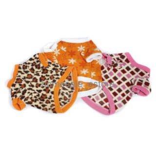 Pet Dog Winter Clothes Warm Fleece Shirt Hoody Leopard Star Costumes Apparel New