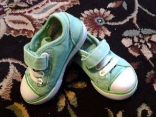 Jumping Beans Toddler Girls Lime Green Canvas Shoes Size 5M
